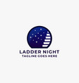 ladder night design concept template vector image