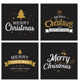 merry christmas and happy new year typography vector image