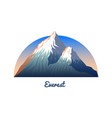 mount everest peaks and landscape early in a vector image