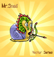 mr snail with indian vector image vector image