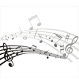 music note background vector image vector image