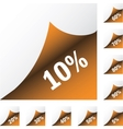 Orange paper sickers with discount vector image vector image