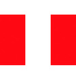peruvian flag vector image vector image