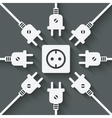 plugs around outlet vector image