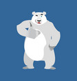 polar bear winks emoji wild animal arctic and vector image vector image