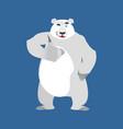 polar bear winks emoji wild animal arctic and vector image