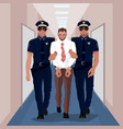 Police officers arrested businessman at office