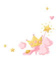 princess party items frame vector image