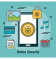 protecting online security internet shop design vector image