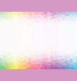 rainbow colored geometric background vector image vector image