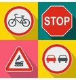 Road Sign banners set flat style vector image vector image
