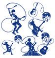 rock musician logo vector image vector image