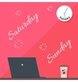 Saturday and Sunday Holiday Official Day Off vector image vector image