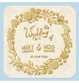 Save the date wedding invitation card with wreath vector image