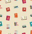 seamless pattern colorful textbooks vector image