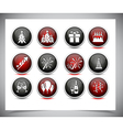 Set of color new year buttons vector image