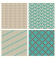 Set of seamless knitting patterns vector image vector image