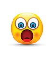 shocked emoji vector image vector image