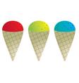 Snow cones vector image