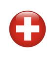 switzerland flag on button vector image