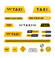 Taxi stylish set of logos icons and stickers vector image