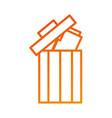 trash can folder file information delete web vector image vector image