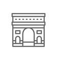 triumphal arch france landmark line icon vector image vector image