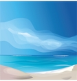 tropic exotic island beach landscape vector image vector image