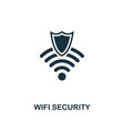 wifi security icon premium style design from vector image vector image