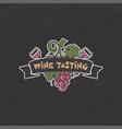 wine tasting winery logo template drink vector image vector image