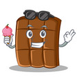 with ice cream chocolate character cartoon style vector image