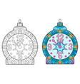 zentangle stylized christmas decorations hand vector image vector image