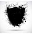 Grunge shield vector image