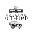 Off-Road Extreme Club And Rental Black And White vector image