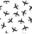 airplane seamless pattern background icon flat vector image vector image
