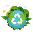 an earth recycle logo vector image