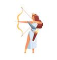 artemis greek goddess ancient god hunt vector image vector image
