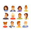 avatars set vector image vector image
