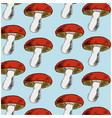 background with mushrooms vector image vector image