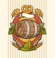 badge for beer festival or oktoberfest background vector image
