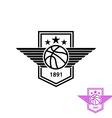 Basketball ball with wings t-shirt print sport vector image vector image