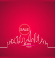 black friday in the city the perfect sale white vector image vector image