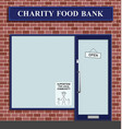 charity food bank serving community vector image vector image