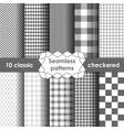 Checkered fabric seamless pattern grey and white vector image vector image