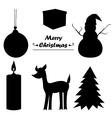 Christmas icon sillhouette vector image vector image