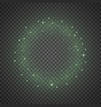 circle of glitter particles green color vector image vector image