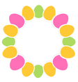 Colorful easter eggs in circle with copy space vector image