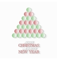 Creative Christmas tree consists from 3d paper vector image vector image