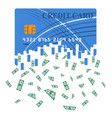 credit or debit card which is transformed into vector image vector image