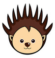 cute porcupine cute animal faces vector image vector image